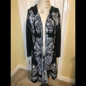 Free People After The Storm Hooded Cardigan Size S